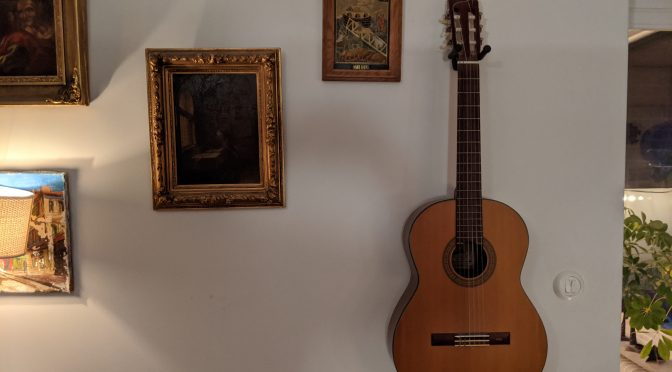 Gitarren är uppe